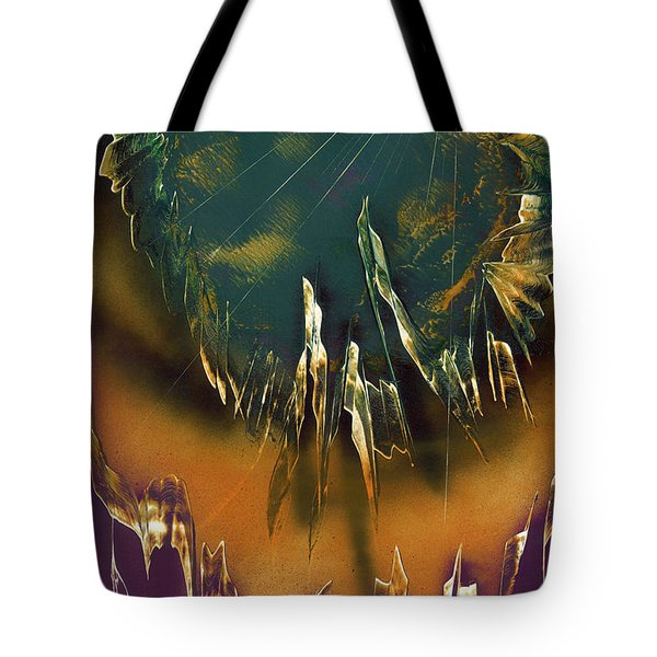 Tote Bag featuring the painting Reefs by Jason Girard