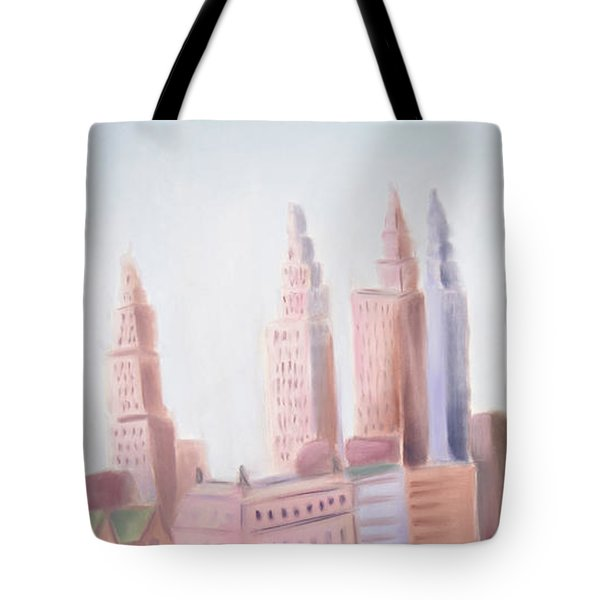Window On Central Park South Tote Bag by Tatjana Krizmanic