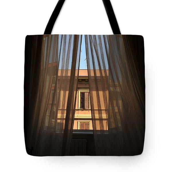 Window On Rome Tote Bag