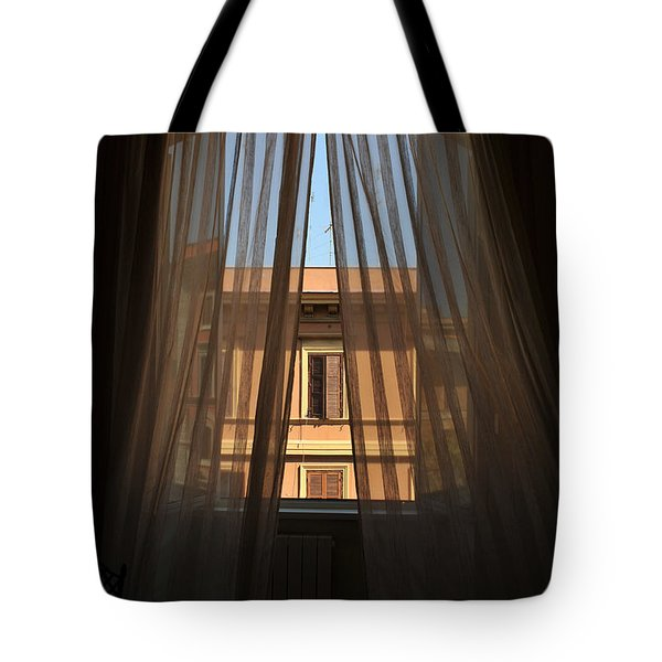Tote Bag featuring the photograph Window On Rome by Susie Rieple