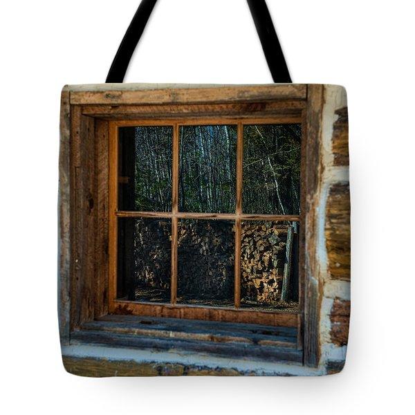 Window Reflection Tote Bag by Paul Freidlund