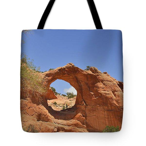 Window Rock Arizona Tote Bag by Christine Till