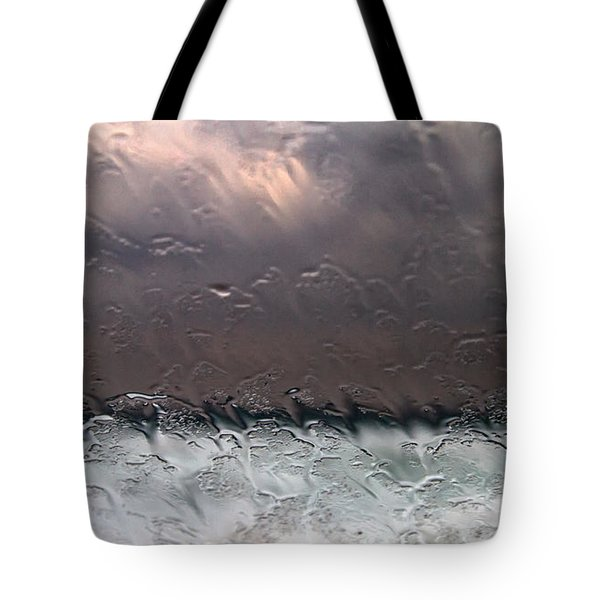 Window Sea Storm Tote Bag by Stelios Kleanthous