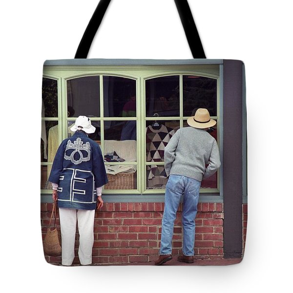 Tote Bag featuring the photograph Window Shoppers by James B Toy