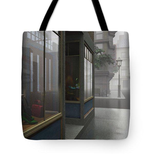 Window Shopping Tote Bag by Cynthia Decker