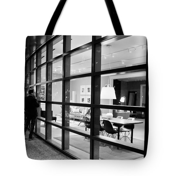 Window Shopping In The Dark Tote Bag by Melinda Ledsome