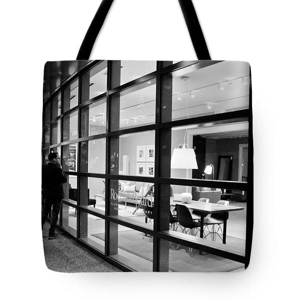 Window Shopping In The Dark Tote Bag