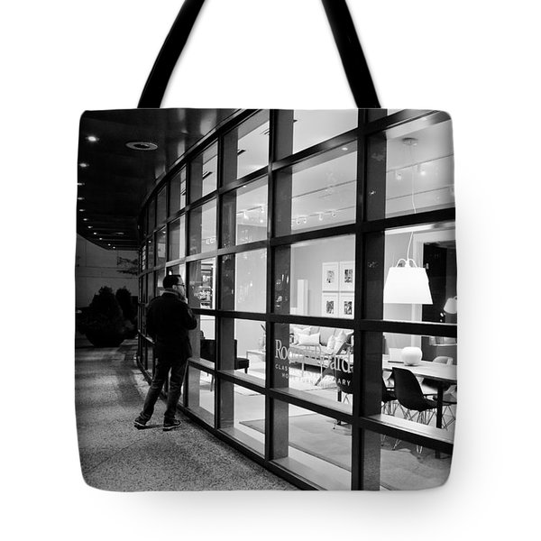 Window Shopping In The Dark Tote Bag
