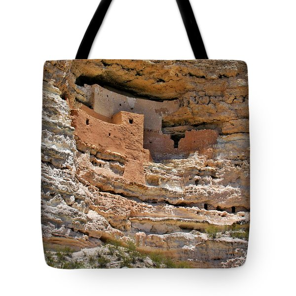 Window To The Past - Montezuma Castle Tote Bag by Christine Till