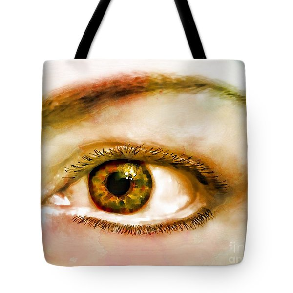 Window To The Soul II Tote Bag by Debbie Portwood