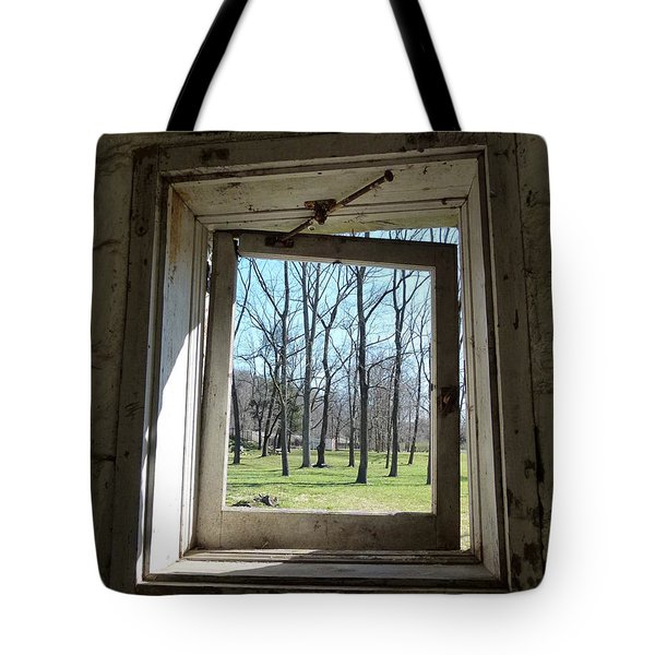Tote Bag featuring the photograph Window To The World by Jane Ford