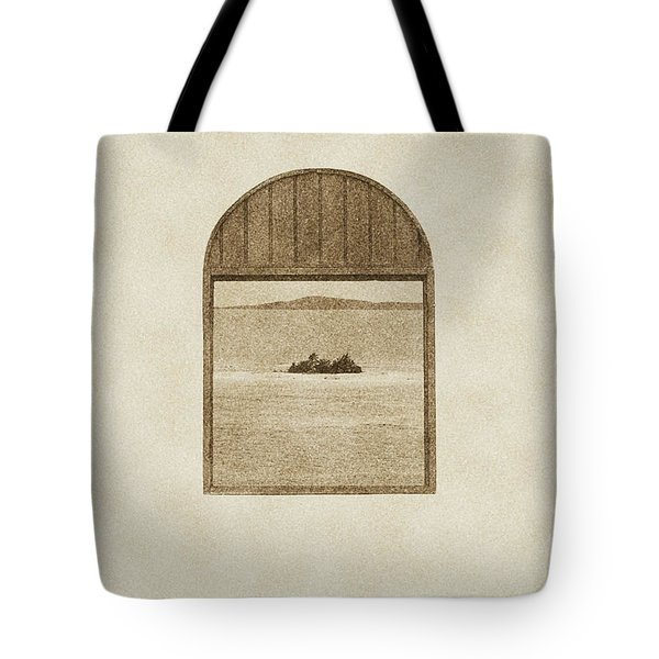Window View Of Desert Island Puerto Rico Prints Vintage Tote Bag by Shawn O'Brien