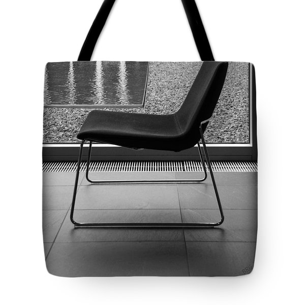 Window View With Chair In Black And White Tote Bag by Ben and Raisa Gertsberg