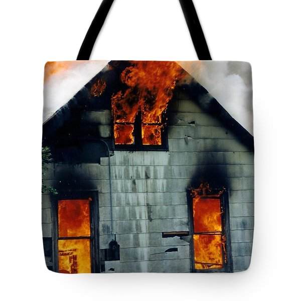 Windows Aflame Tote Bag