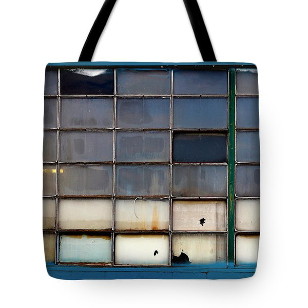 Windows In Blue Building 2 Tote Bag
