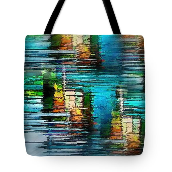 Windows Into The Blue Tote Bag by Pamela Blizzard