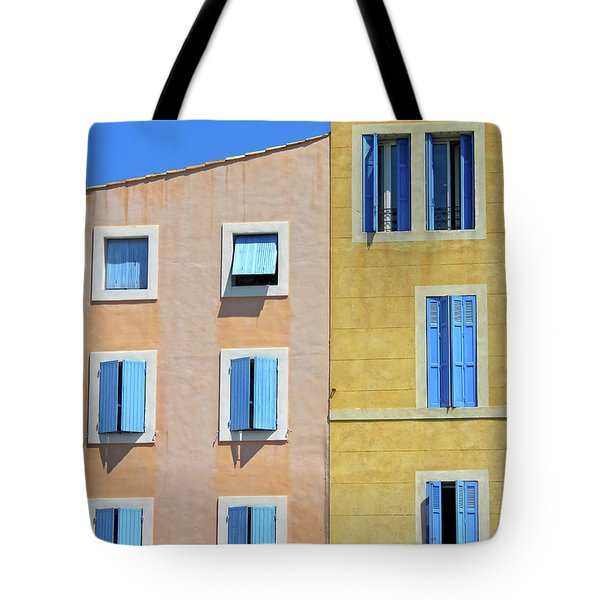 Tote Bag featuring the photograph Windows Martigues Provence France by Dave Mills