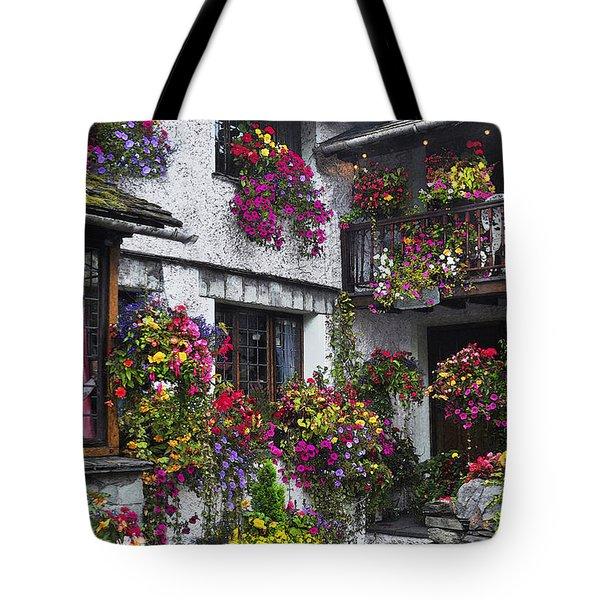 Windows Of Flowers Tote Bag