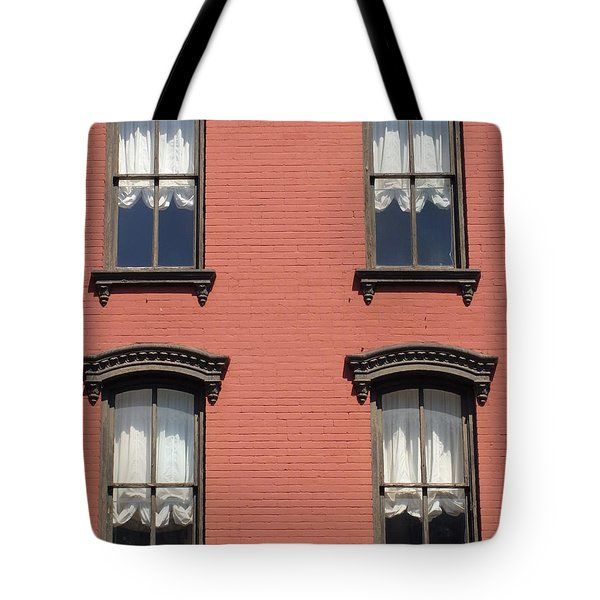 Tote Bag featuring the photograph Window's Of Hudson Ny by Ira Shander