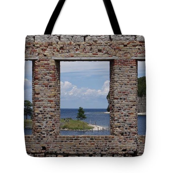 Windows On Snail Shell Harbor Tote Bag