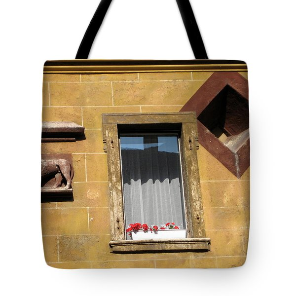 Tote Bag featuring the photograph Windows To Budapest by Judith Morris