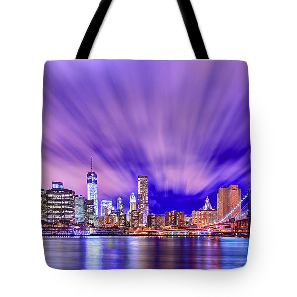 Winds Of Lights Tote Bag by Midori Chan