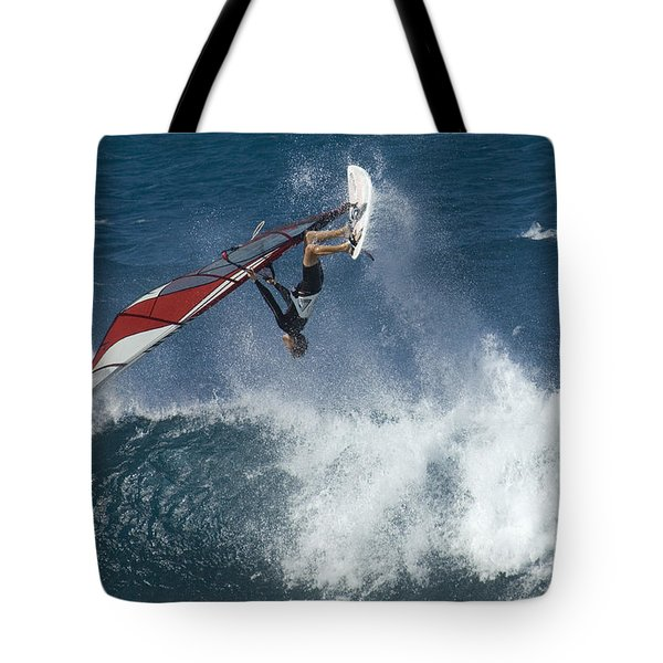 Windsurfer Hanging In Tote Bag by Bob Christopher