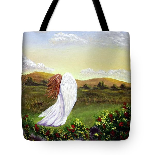 Windswept Angel Tote Bag