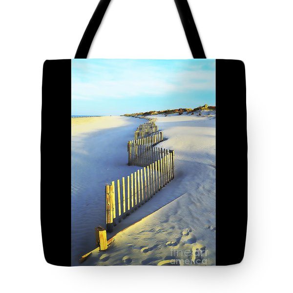 Windswept At Sunset - Jersey Shore Tote Bag by Joseph J Stevens
