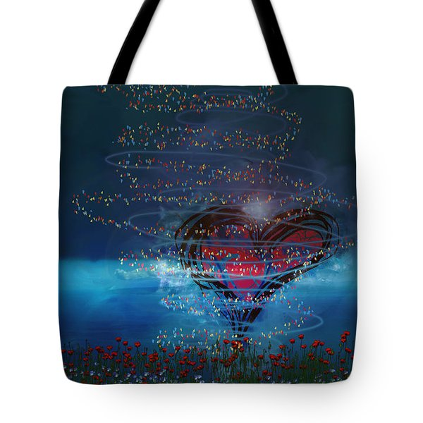 Windswept Love Tote Bag by Linda Sannuti
