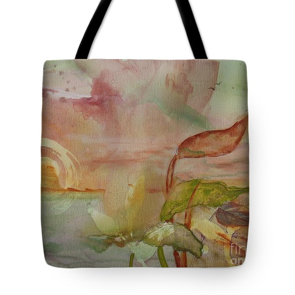 Tote Bag featuring the painting Windswept by Robin Maria Pedrero