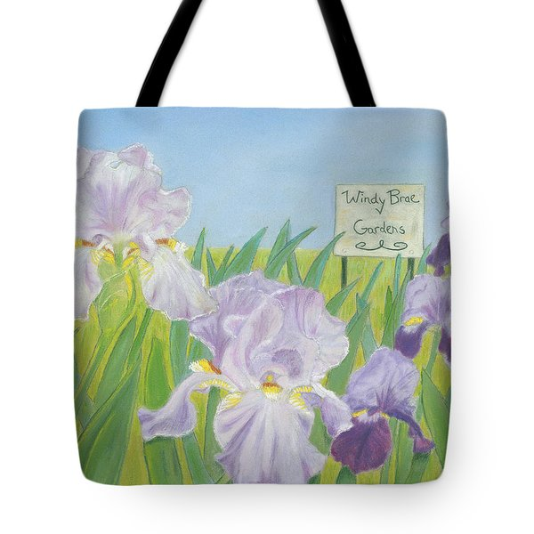 Tote Bag featuring the painting Windy Brae Gardens by Arlene Crafton