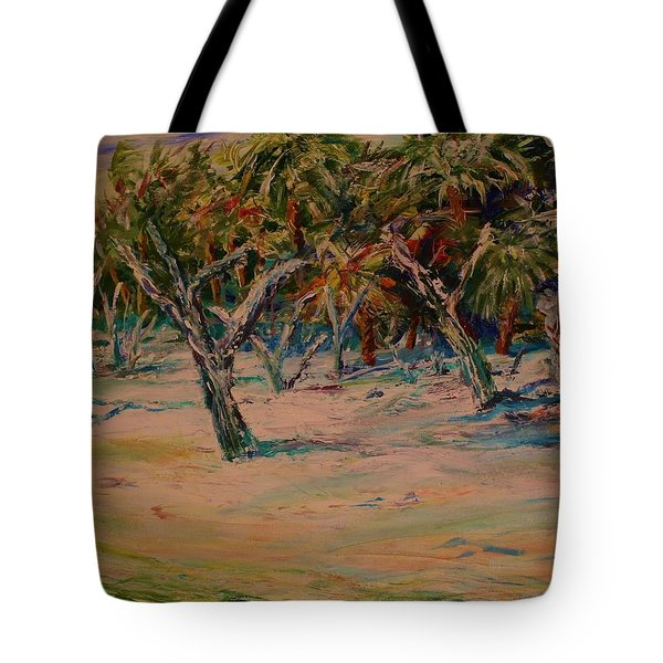 Windy Day At Botany Island Tote Bag
