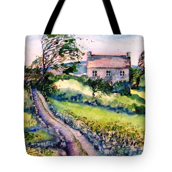 Windy Day Clear Island  Tote Bag by Trudi Doyle