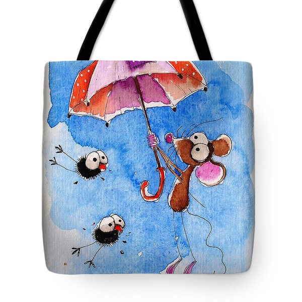 Windy Days Tote Bag by Lucia Stewart