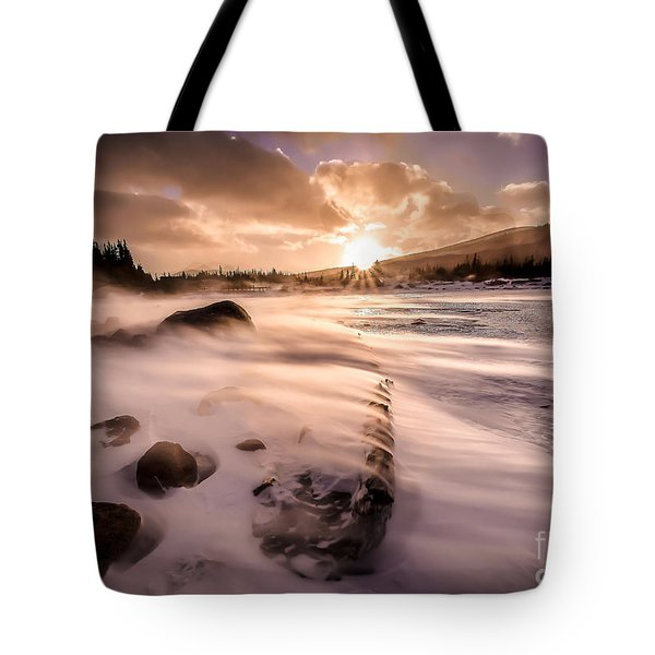 Windy Morning Tote Bag