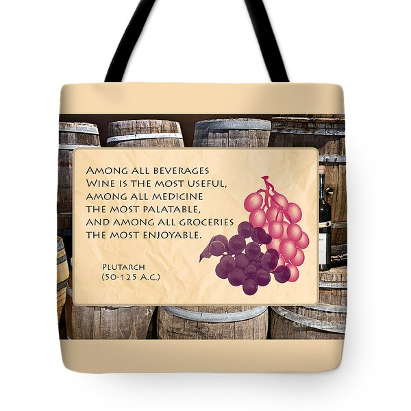 Wine - Best Medicine Tote Bag