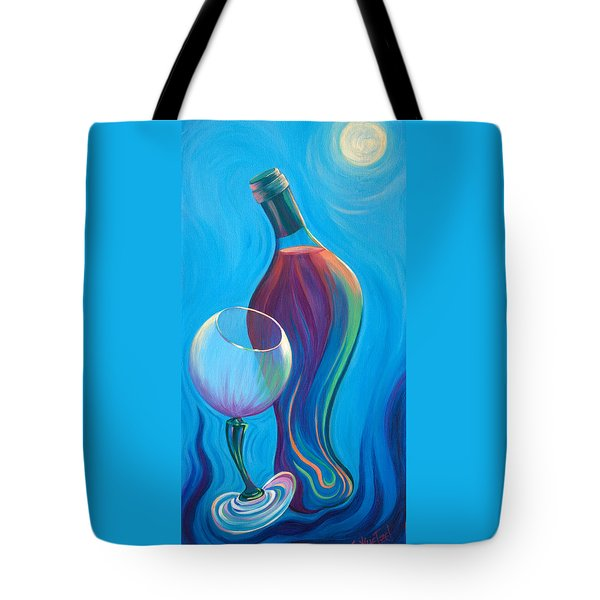 Tote Bag featuring the painting A Wine Affair by Sandi Whetzel