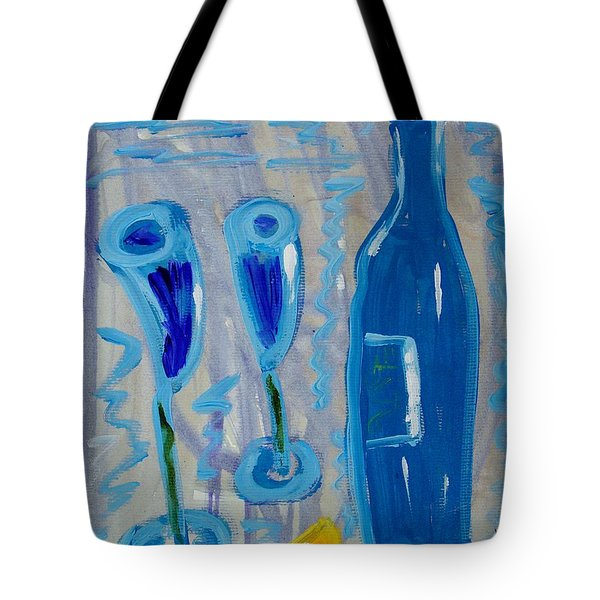 Wine And Cheese Tote Bag by Mary Carol Williams