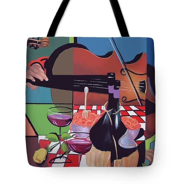 Tote Bag featuring the painting Wine And Roses by Anthony Falbo