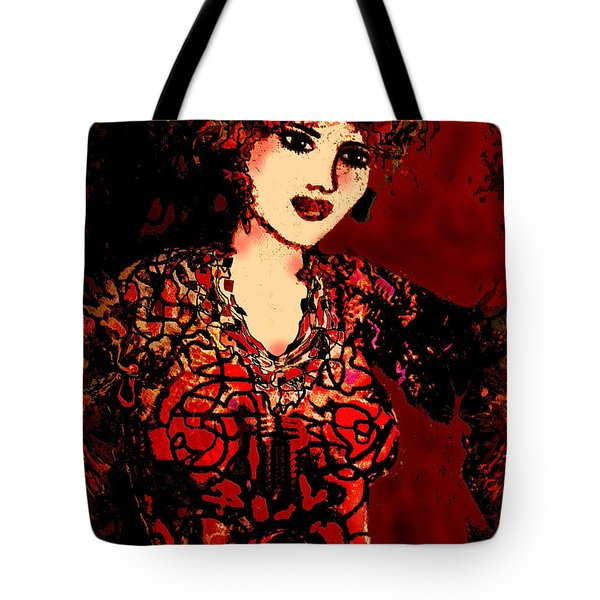 Wine And Roses Tote Bag by Natalie Holland
