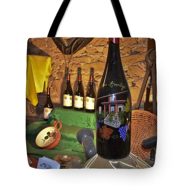 Wine Bottle On Display Tote Bag