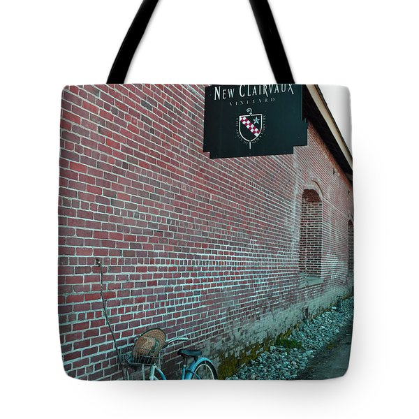 Wine Break Tote Bag by Holly Blunkall