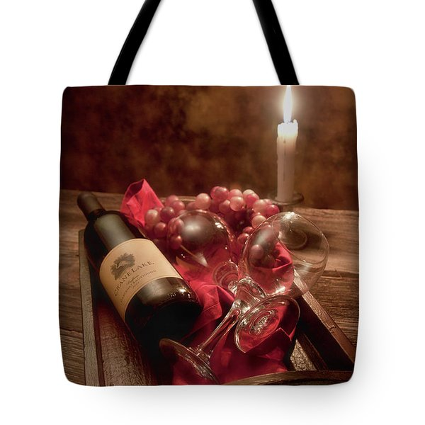 Wine By Candle Light I Tote Bag