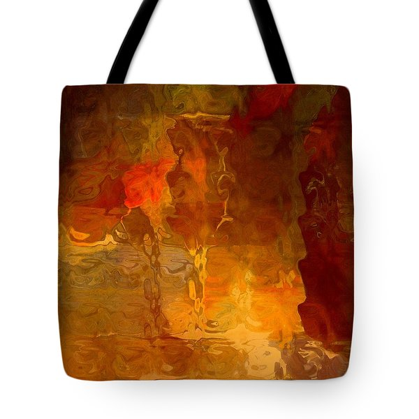 Wine By Candlelight Tote Bag by Lisa Kaiser