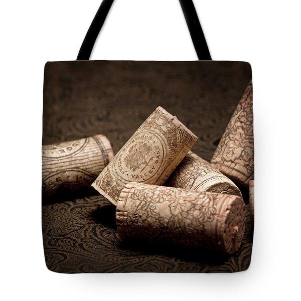 Wine Corks Still Life IIi Tote Bag by Tom Mc Nemar