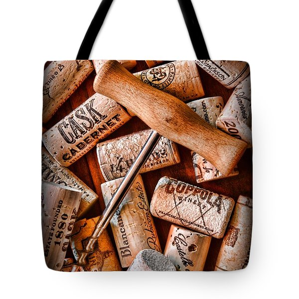 Wine Corks With Corkscrew Tote Bag by Paul Ward