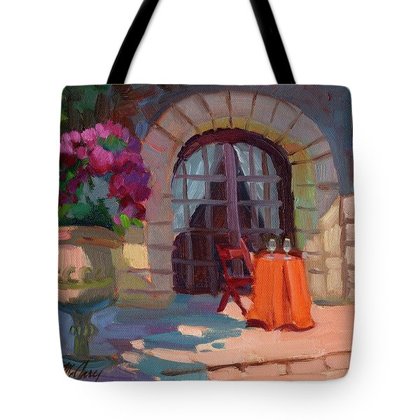 Wine For Two Tote Bag by Diane McClary