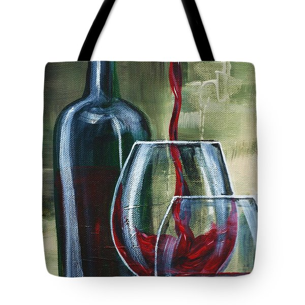 Wine For Two Tote Bag by Lisa Owen-Lynch