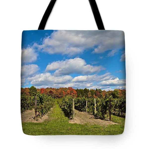 Tote Bag featuring the photograph Wine In Waiting by William Norton